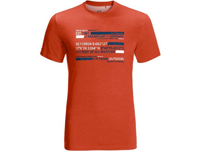 Jack Wolfskin Established In T-Shirt Men, chili